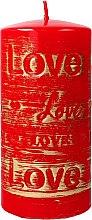 Parfumuri și produse cosmetice Lumânare decorativă, roșie, 7x14 cm - Artman Lovely