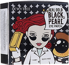Parfumuri și produse cosmetice Patch-uri sub ochi cu aur și perle negre - Dewytree Real Gold Black Pearls Eye Patch