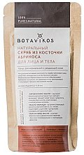 Parfumuri și produse cosmetice Scrub uscat de sâmbure de caise, avocado și ulei de piersici - Botavikos