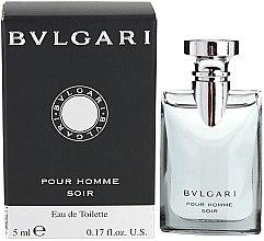 Parfumuri și produse cosmetice Bvlgari Pour Homme Soir - Apă de toaletă (mini)