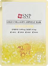 Parfumuri și produse cosmetice Mască cu aur și colagen pentru față - SNP Gold Collagen Ampoule Mask
