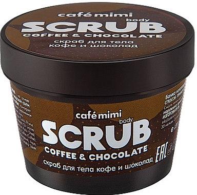 """Scrub de corp """"Cafea și ciocolată"""" - Cafe Mimi Body Scrub Coffee & Chocolate"""
