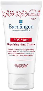 Cremă pentru pielea uscată și crăpată a mâinilor - Barnangen SOS Vard Repairing Cream