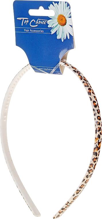 Cordeluță îngustă de păr, 27529, leopard - Top Choice
