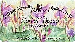 """Parfumuri și produse cosmetice Săpun natural """"Flori de pădure"""" - Florinda Sapone Vegetale Vegetal Soap Wood Flowers"""