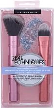 Parfumuri și produse cosmetice Set - Real Techniques Skin Perfecting Set (brush/2pcs + mirror/1pcs)