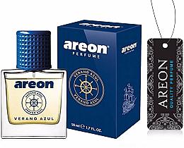 Parfumuri și produse cosmetice Aromatizator auto - Areon Luxury Car Perfume Long Lasting Air Freshener Verano Azul
