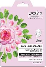 """Parfumuri și produse cosmetice Mască de țesătură """"Trandafir și Fitocolagen"""" - Polka Rose And Phytocollagen Facial Sheet Mask"""