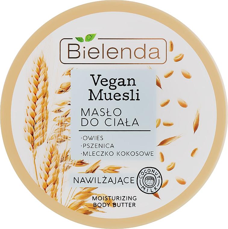 """Unt hidratant de corp """"Ovăz, grâu, lapte de cocos"""" - Bielenda Vegan Muesli Moisturizing Body Butter"""