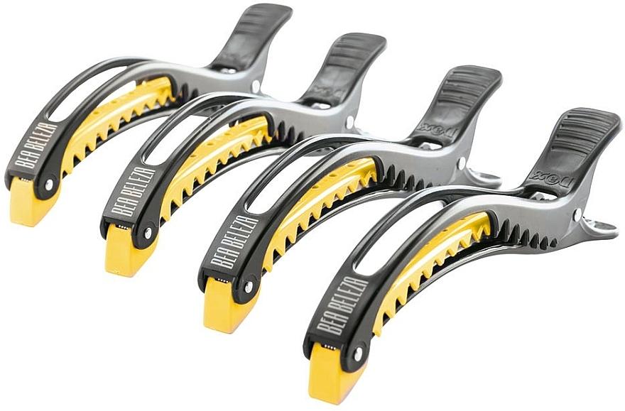 Cleme pentru păr, negru-galben - Dajuja Penguin Clip Black-Yellow