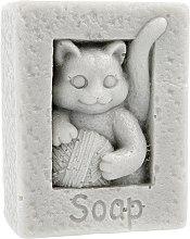 "Parfumuri și produse cosmetice Săpun natural ""Pisica cu minge"", gri - LaQ Happy Soaps"