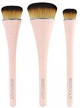 Parfumuri și produse cosmetice Set pensule de machiaj, 3 buc - EcoTools 360 Ultimate Blend
