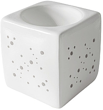 Parfumuri și produse cosmetice Lampă aromaterapie, pătrată, alb - Flagolie By Paese Cube Fireplace White