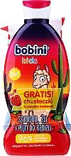 Parfumuri și produse cosmetice Set - Bobini Kids Set (gel/shmp/330ml + wipes/15pcs)