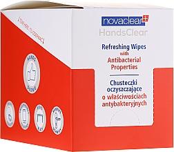 Parfumuri și produse cosmetice Șervețele antibacteriene de curățare - Novaclear Hands Clear Refreshing Wipe With Antibacterial Properties