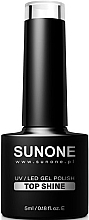 Parfumuri și produse cosmetice Top pentru gel-lac - Sunone UV/LED Gel Polish Top Shine