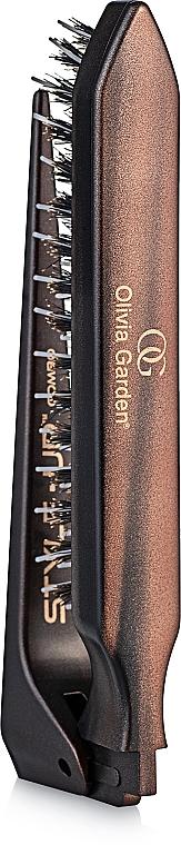 Perie triplă, pliabilă 2 în 1 - Olivia Garden Style UP Combo — Imagine N2