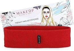 """Parfumuri și produse cosmetice Bandă elastică pentru păr """"Be Beauty"""", roșie - MakeUp"""