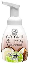 "Parfumuri și produse cosmetice Мыло-пенка для рук ""Кокос и лайм"" - Australian Gold Foaming Hand Soap Coconut Lime"