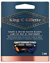 Parfumuri și produse cosmetice Casete de bărbierit de schimb - Gillette King C.