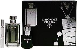 Parfumuri și produse cosmetice Prada L'Homme Prada - Set (edt/100ml + s/g/100ml + edt/mini/10ml)