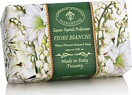 "Parfumuri și produse cosmetice Săpun natural ""Flori albe"" - Saponificio Artigianale Fiorentino White Flowers Scented Soap"