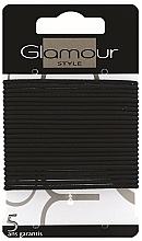 Parfumuri și produse cosmetice Set elastice de păr, 414933, negre - Glamour