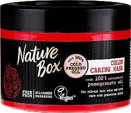 Parfumuri și produse cosmetice Mască de păr - Nature Box Pomegranate Oil Maska