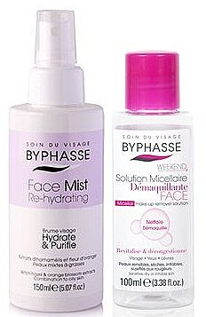 Set - Byphasse Micellar Make-up Remover Set(micelar/water/100/ml+spray/face/150/ml)