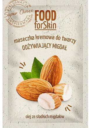 Mască de față - Marion Food for Skin Cream Mask Nourishing Almond