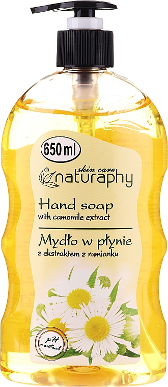 Săpun lichid cu extract de mușețel - Bluxcosmetics Naturaphy Hand Soap
