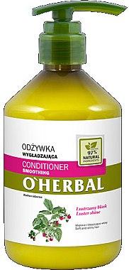 Balsam cu extract de zmeură pentru netezirea și strălucirea părului - O'Herbal — Imagine N1