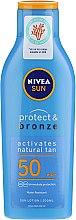 Духи, Парфюмерия, косметика Солнцезащитный лосьон для загара - Nivea Sun Protect&Bronze SPF 50