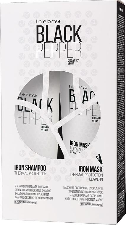 Set - Inebrya Balck Pepper Iron Kit (sh/300ml+mask/250ml) — Imagine N1