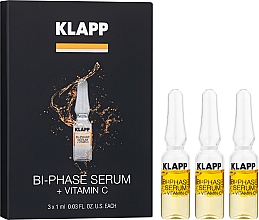 "Parfumuri și produse cosmetice Ser bifazic pentru față ""Vitamina C"" - Klapp Bi-Phase Serum Vitamin C"