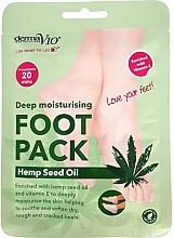 Parfumuri și produse cosmetice Șosete nutritive pentru picioare - Derma V10 Deep Moisturising Foot Pack Hemp Seed Oil