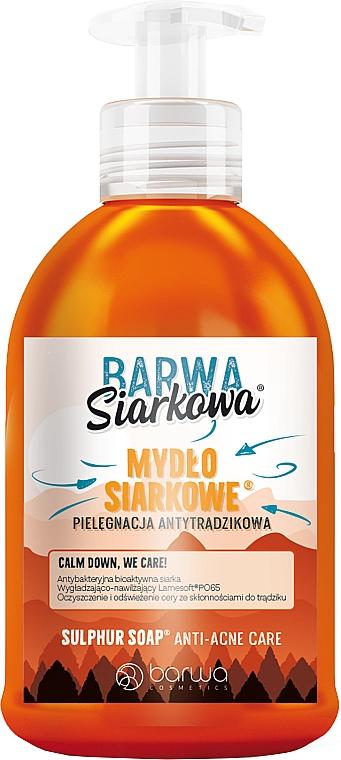 Антибактериальное жидкое серное мыло - Barwa Anti-Acne Sulfuric Liquid Soap