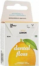 """Parfumuri și produse cosmetice Ață dentară """"Lămâie"""" - The Humble Co. Dental Floss Lemon"""