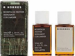Parfumuri și produse cosmetice Korres Mountain Pepper Bergamot Coriander - Apă de toaletă