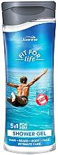 Parfumuri și produse cosmetice Gel de duș și șampon 5în1 - Joanna Fit For Life 5in1 Shower Gel For All Body Odour Stoper For Men