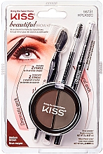 Parfumuri și produse cosmetice Kiss Beautiful Brow Kit - Set pentru sprâncene