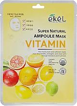 Parfumuri și produse cosmetice Mască de țesut pe bază de complex de vitamine - Ekel Super Natural Ampoule Mask Vitamin