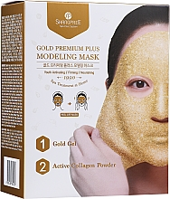 Parfumuri și produse cosmetice Mască-peliculă pentru față, cu castron - Shangpree Gold Premium Modeling Mask