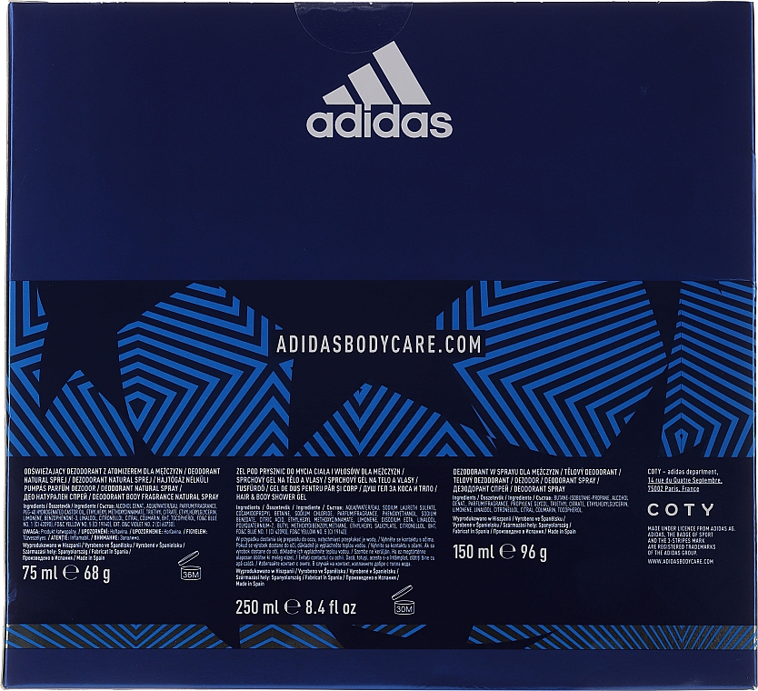 Adidas UEFA Dare Edition - Set (sh/gel/250ml + deo/75ml + deo/spray/150ml) — Imagine N5