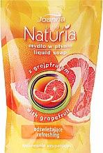 """Parfumuri și produse cosmetice Săpun lichid """"Grapefruit"""" - Joanna Naturia Body Grapefruit Liquid Soap (Refill)"""