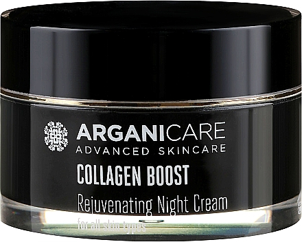 Cremă anti-îmbătrânire de noapte pentru față - Arganicare Collagen Boost Rejuvenating Night Cream — Imagine N2