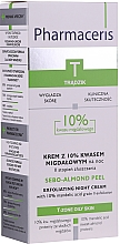 Parfumuri și produse cosmetice Ночной крем-пилинг с 10% миндальной кислотой - Pharmaceris T Sebo-Almond-Peel Exfoliting Night Cream