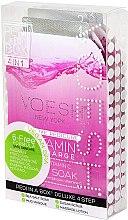 "Set pentru pedichiură ""Grapefruit roz"" - Voesh Pedi In A Box Deluxe Pedicure Vitamin Recharge (35 g) — Imagine N1"