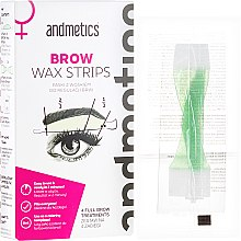 Parfumuri și produse cosmetice Set pentru corecția sprâncenelor - Andmetics Brow Wax Strips Women (strips/4x2pc + strips/4x2pc + wipes/4pc)