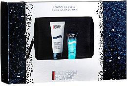 Parfumuri și produse cosmetice Set - Biotherm Homme (gel/shm/40ml + foam/100ml + bag)